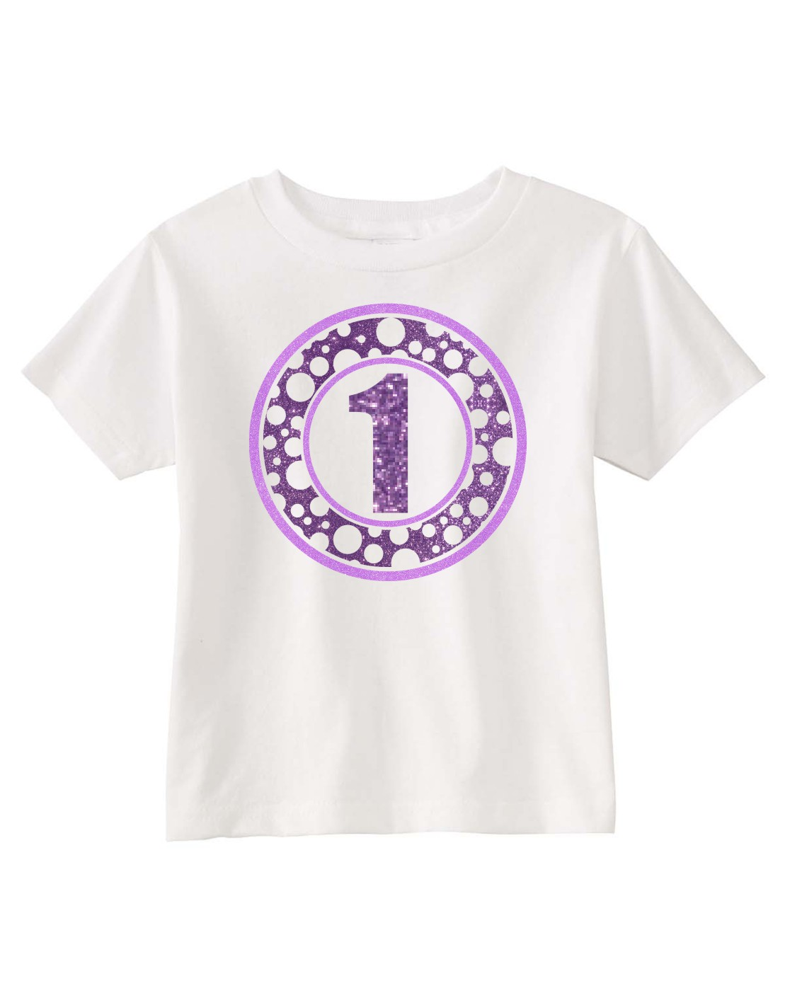 Glitter Circle Birthday Shirt