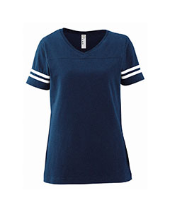 LAT 3537  Ladies' Fine Jersey Football Tee