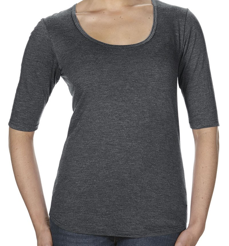 Anvil 6756L Ladies' Triblend Deep Scoop Half-Sleeve T-Shirt