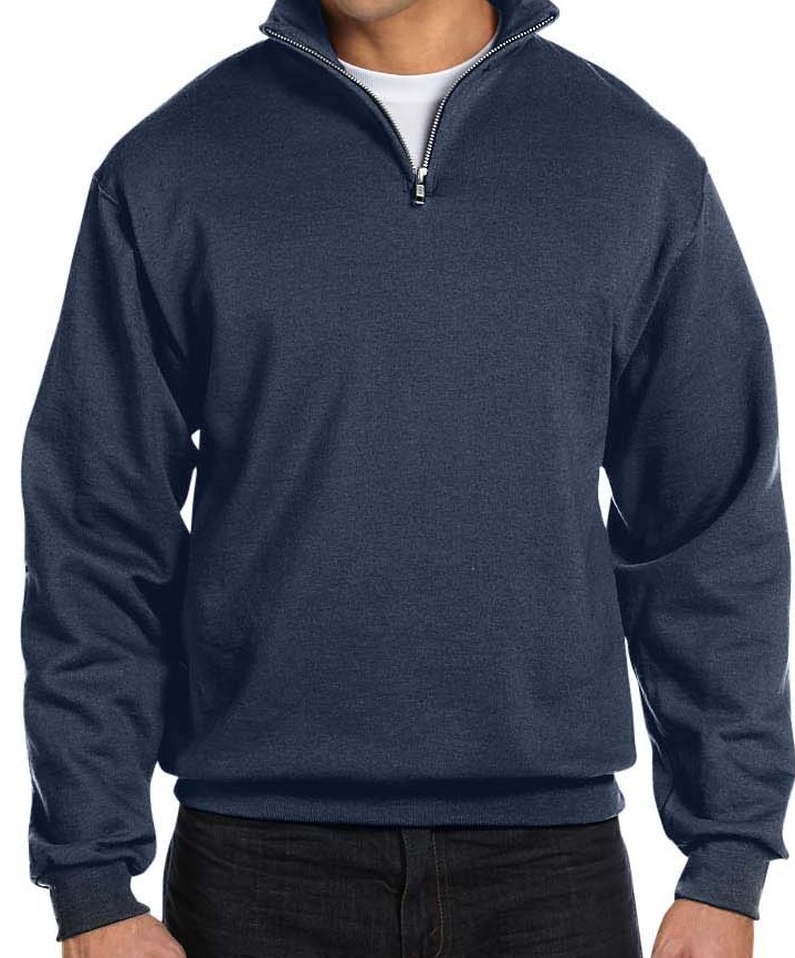 Jerzees 995M 8 oz., 50/50 NuBlend® Quarter-Zip Cadet Collar Sweatshirt