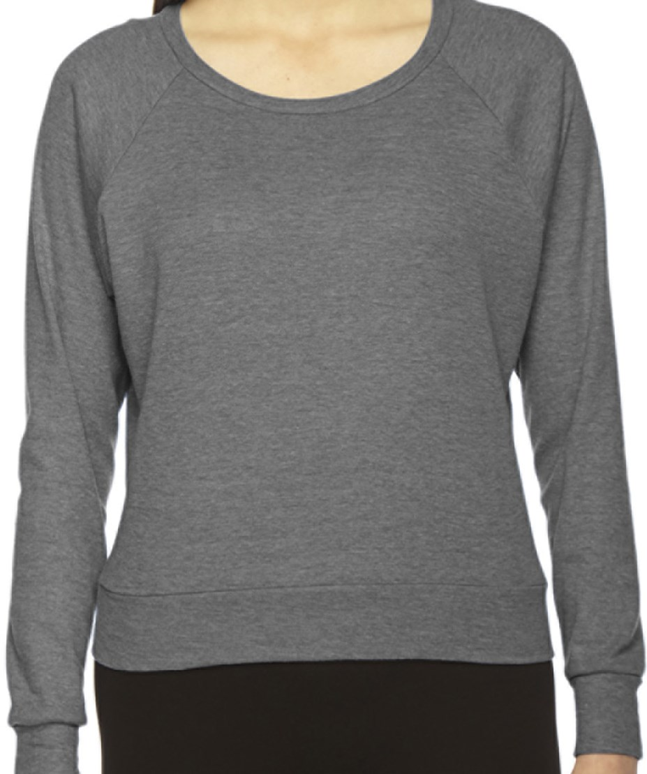 American Apparel BR394 Ladies' Triblend Lightweight Raglan Pullover