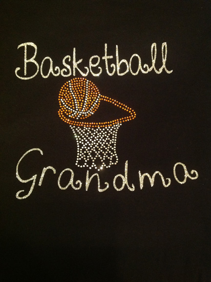 Basket Ball Grandma Shirt with Rhinestone Hoop