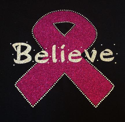 Believe Pink Glitter Shirt