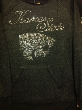 Black Cut Off KSU Sweatshirt