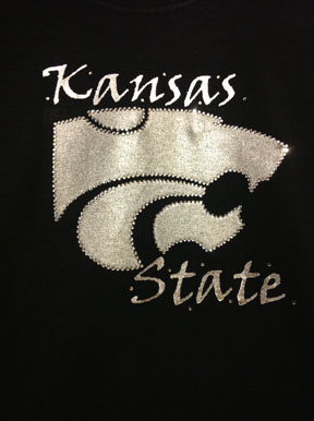 Black Metallic KSU T-Shirt