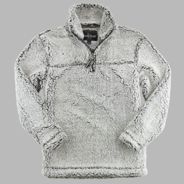 Sherpa Quarter Zip from Boxercraft In Frosty Grey
