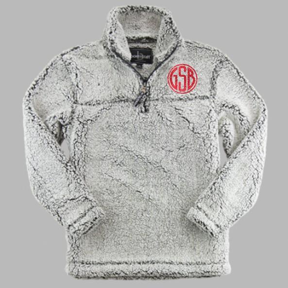 BoxerCraft Quarter Zip Sherpa Frosty Grey