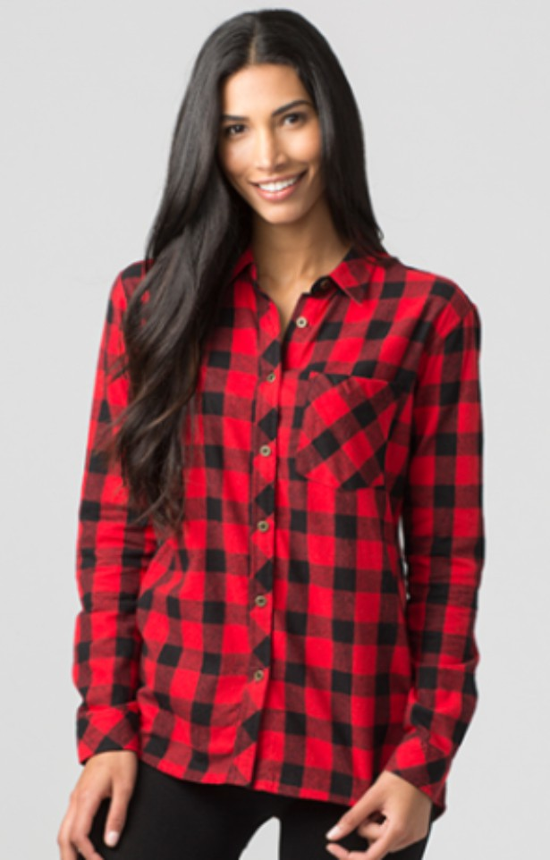 Boxer Craft Ladies Buffalo Plaid Flannel