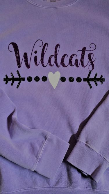 Comfort Colors Ladies Wildcats Sweatshirt in Glitter