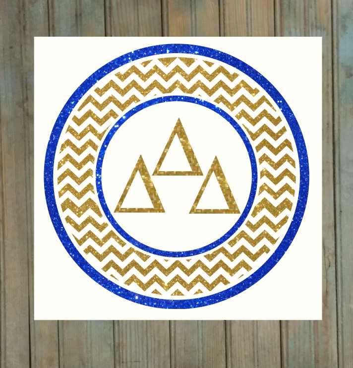 Greek Chevron Circle Decal