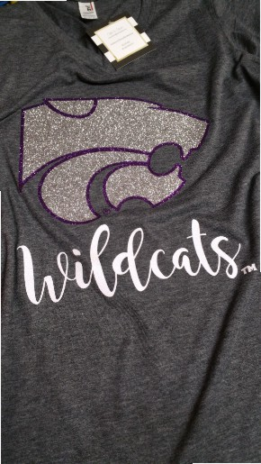 Confetti and Purple Glitter KSU Wildcat Shirt