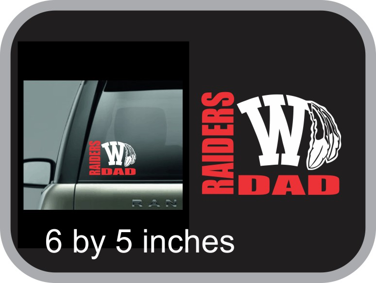 Raider Dad Vinyl Window Decal