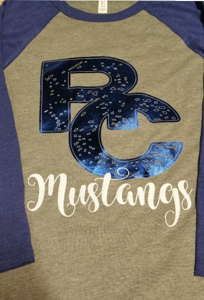 Distressed Foil Baseball Tee