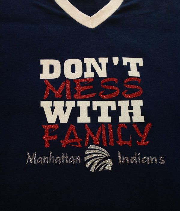 Don't Mess with Family on Jersey V-neck