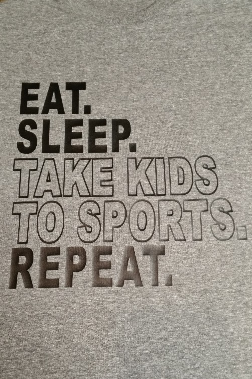 Graphic Tee Eat Sleep Take Kids to Sports Repeat