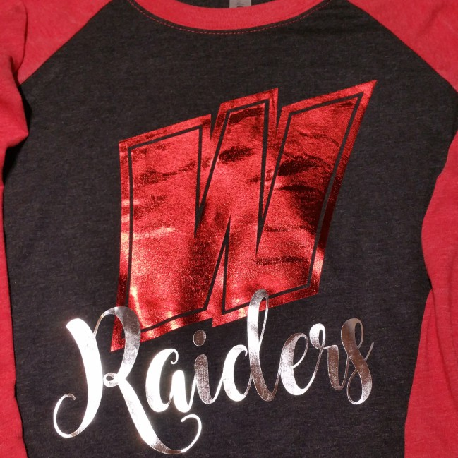 W Foil Raiders Baseball Tee