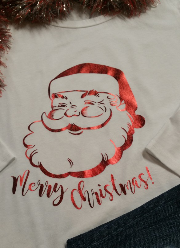 Red Foil Santa Shirt