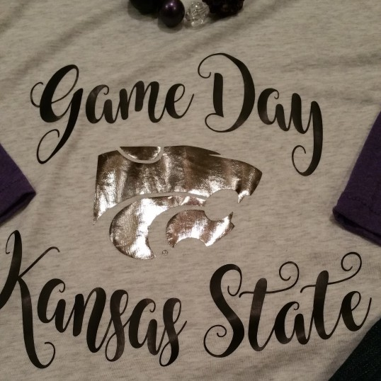 Kansas State Game Day Baseball Tee