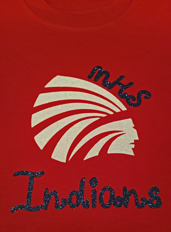 Girls Red Tee with MHS Indians