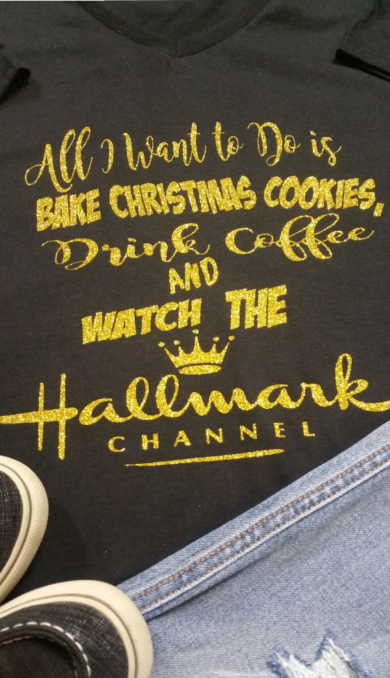 Glitter All I Want Hallmark Holiday Shirt