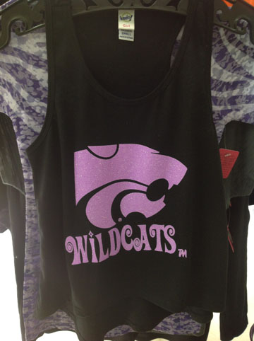 Girls High Low Tank Top With Neon Purple Glitter