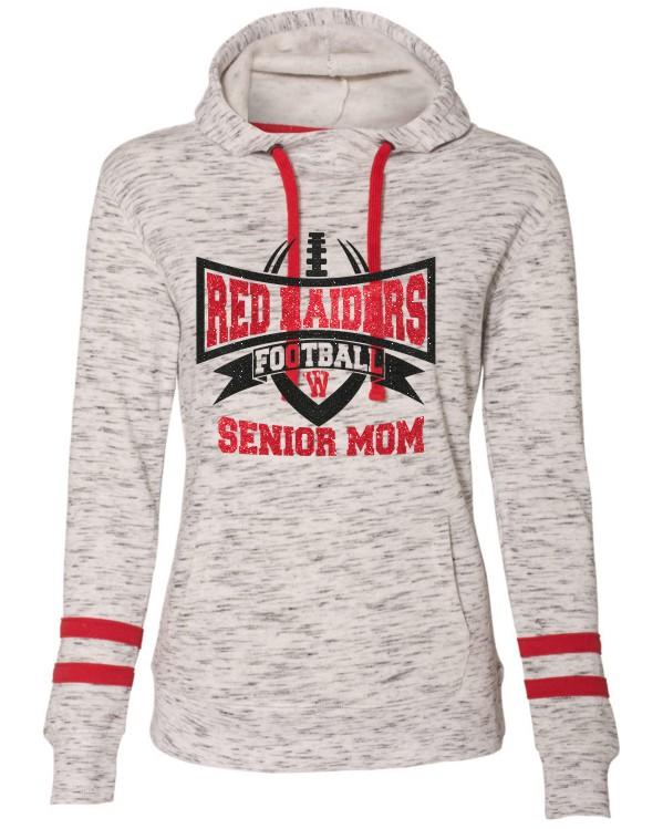 J America Ladies' Melange Scuba Neck Sweatshirt