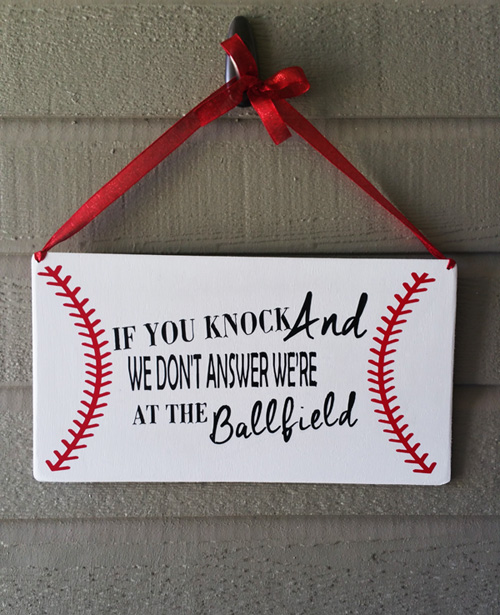 Baseball Door Hang