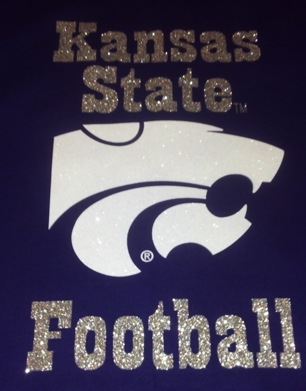 Glitter Kansas State Football Blanket