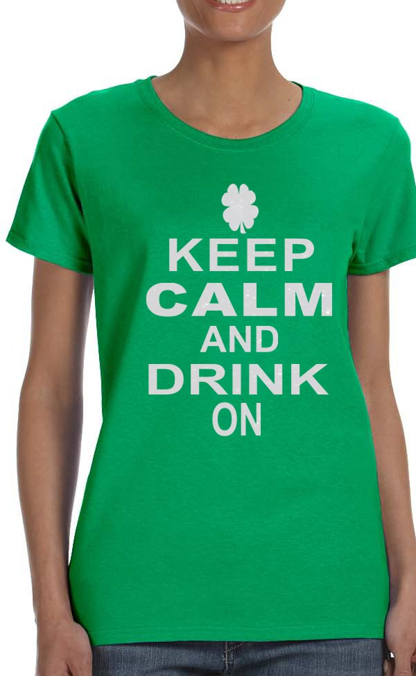Keep Calm and Drink On in Glitter