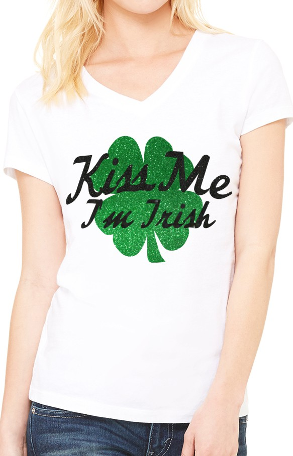 Kiss Me I'm Irish on White