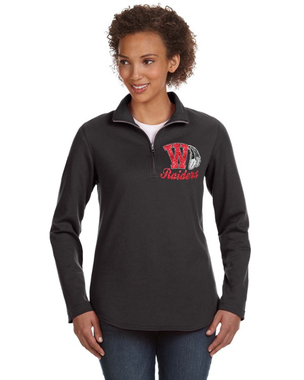 Ladies Glitter Raiders Quarter Zip