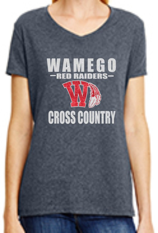 Glitter Wamego Cross Country Ladies V-Neck