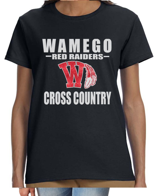 Glitter Wamego Cross Country Ladies Performance Gildan T-Shirt