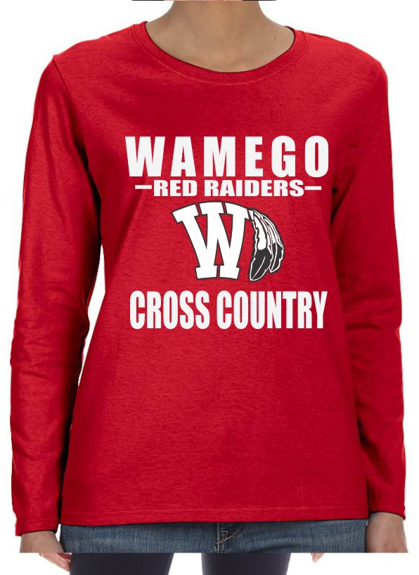 Ladies Vinyl Wamego Cross Country Long Sleeve