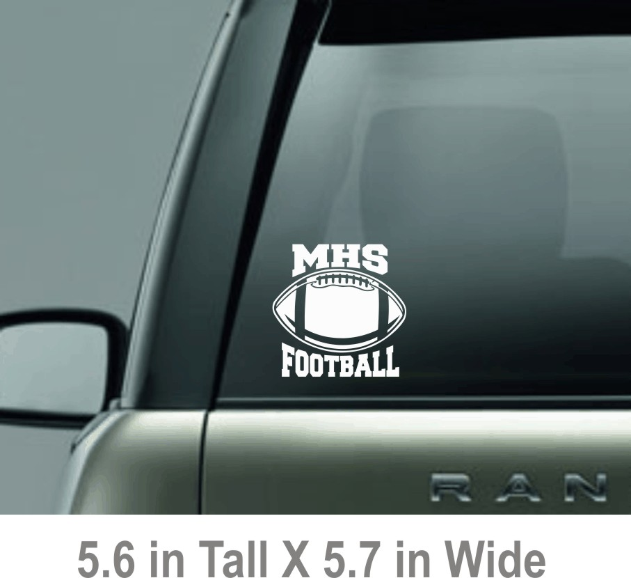 Decal with MHS Football