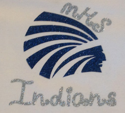 Silver Glitter MHS Indians Girls Shirt