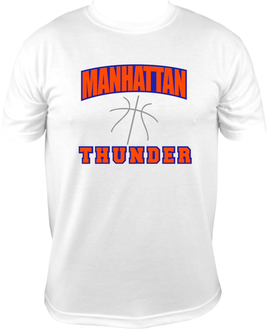 Manhattan Thunder with Royal Vinyl on White