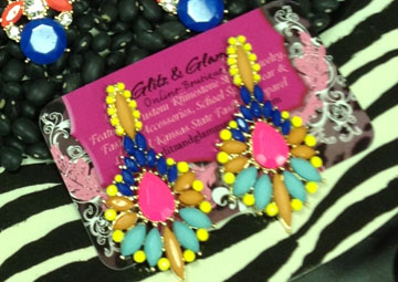 Multi Color Bright Earrings