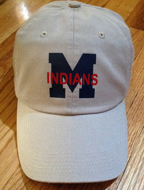 Stone M with Indians Cap