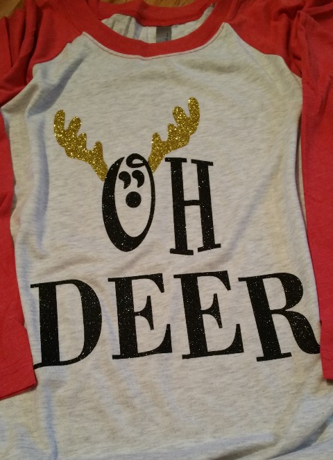 Oh Deer Christmas Baseball Tee