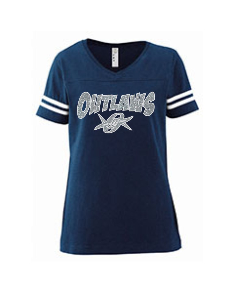 Outlaws Glitter Ladies V-Neck Jersey