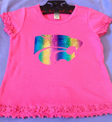 Pink Girls Ruffle Rainbow Shirt