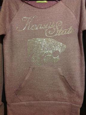 Purple Cut Off KSU Sweatshirt