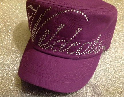 Purple Wildcats Rhinestone Hat