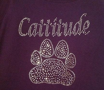 Cattitude Rhinestone Shirt