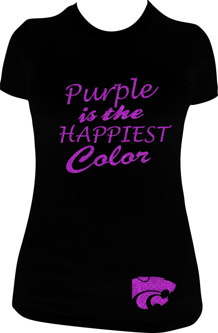 Purple is the Happiest Color in Purple Glitter