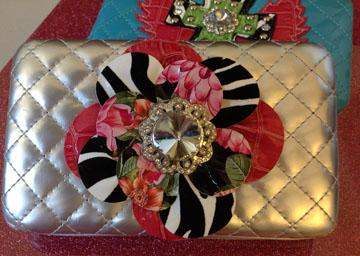 Silver Flower Wallet