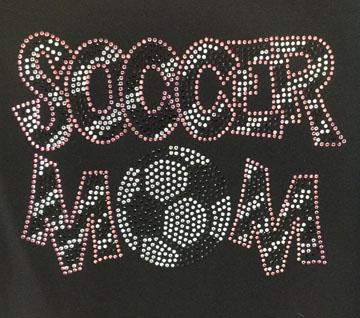 Zebra Print Rhinestone Soccer Mom