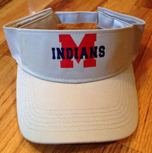 Stone Visor with Vinyl M and Indians