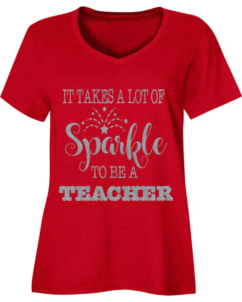 Sparkle Teacher Holiday Shirt